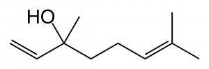 Estrutura molecular do linalol