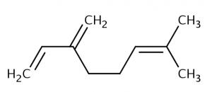 Estrutura molecular do mirceno