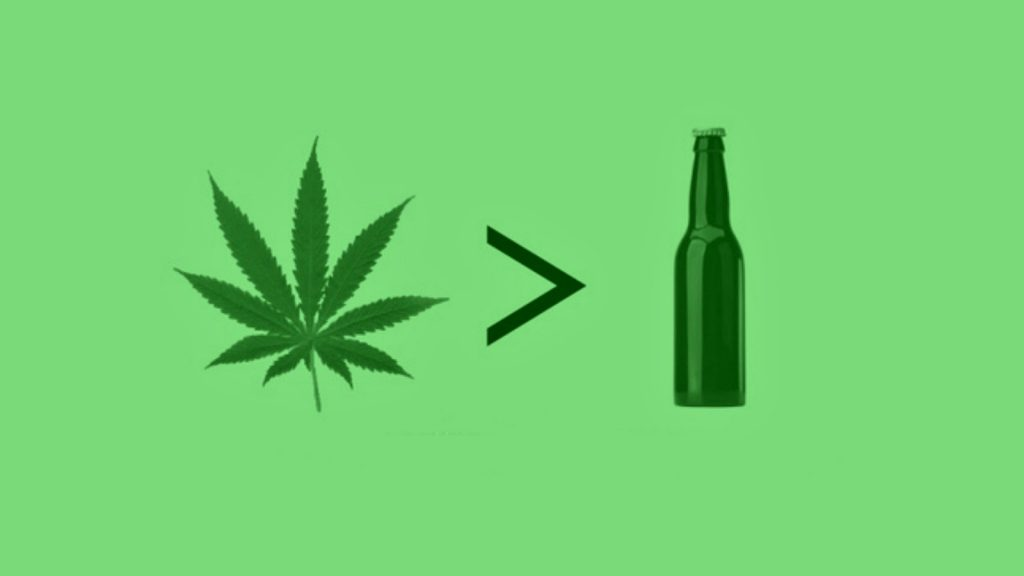 Maconha melhor que álcool