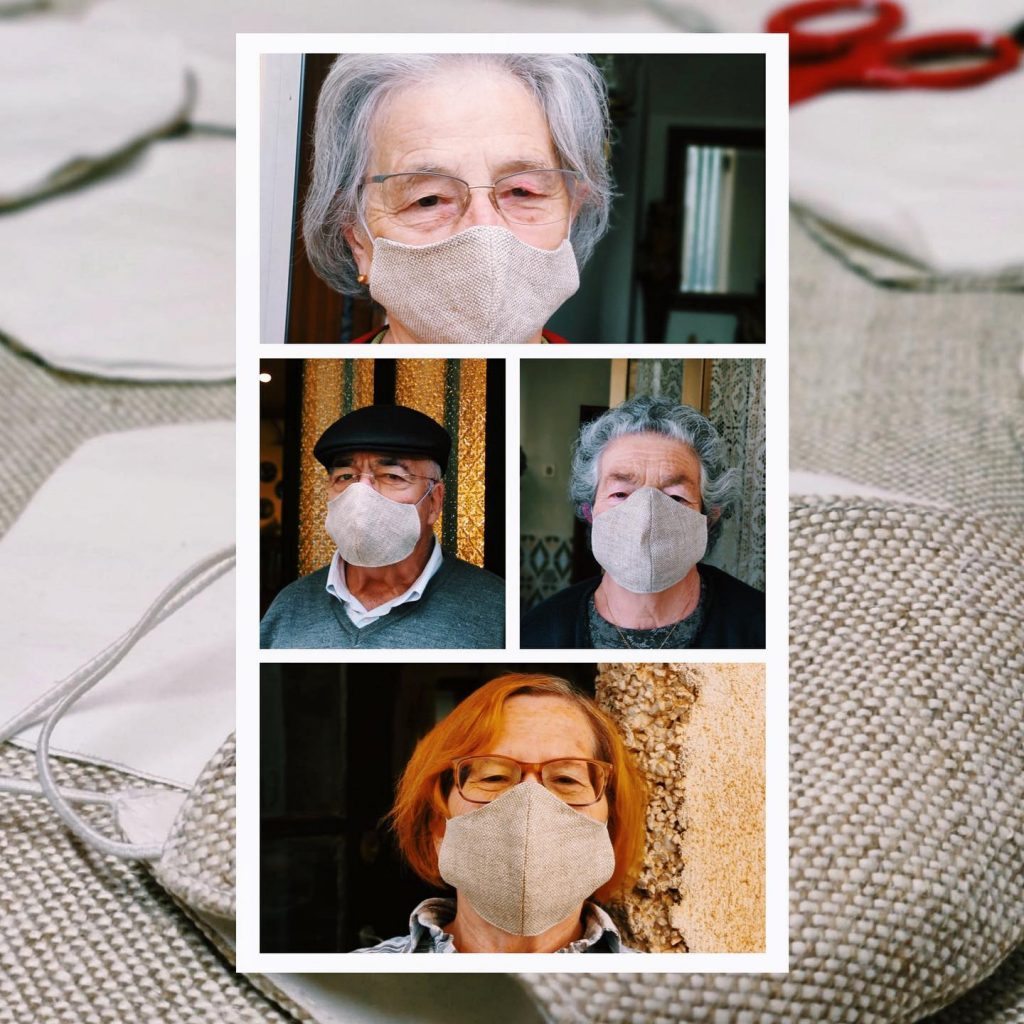 máscaras de cânhamo covid
