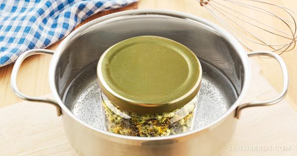 manteiga cannábica banho maria